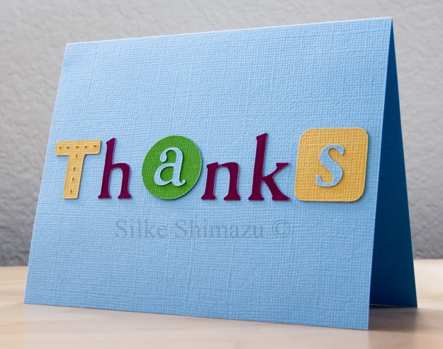 Cricut Thank You Card