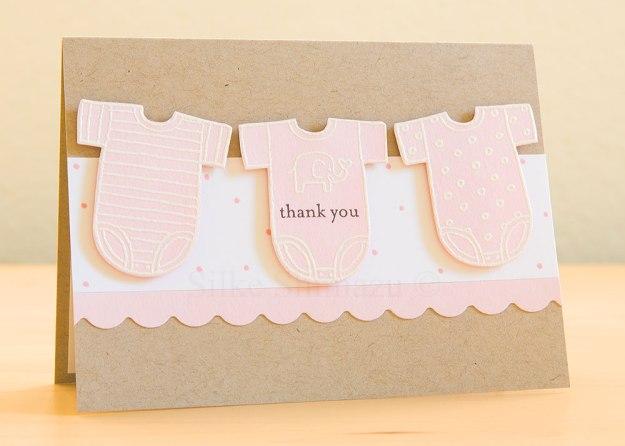 Onesie Baby Shower Thank You Card