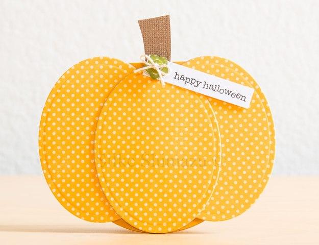 Pumpkin Shaped Halloween Card