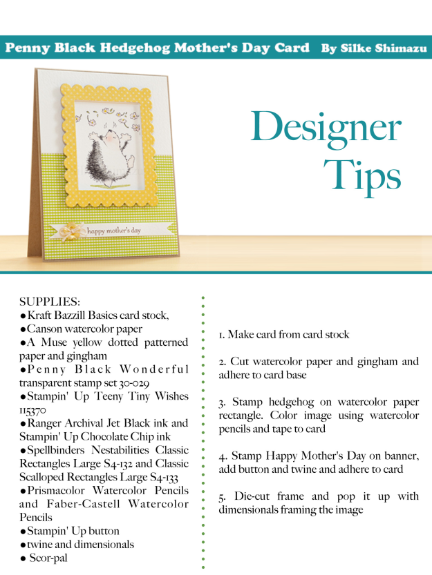 Penny Black Mother's Day Card Instructions