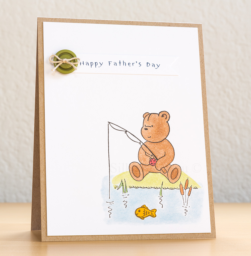 Fishing Penny Black Bear Father's Day Card