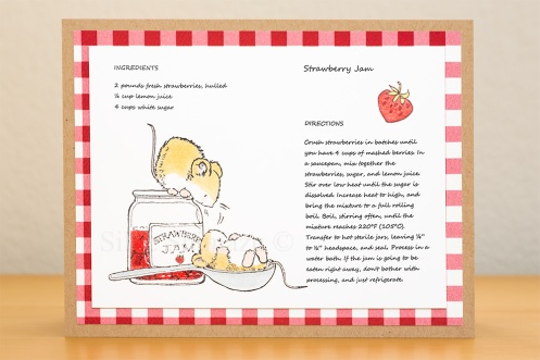 Penny Black Strawberry Jam Recipe Card