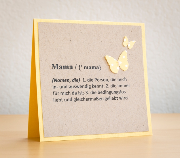 Dictionary Inspired Mothers Day Card 2014