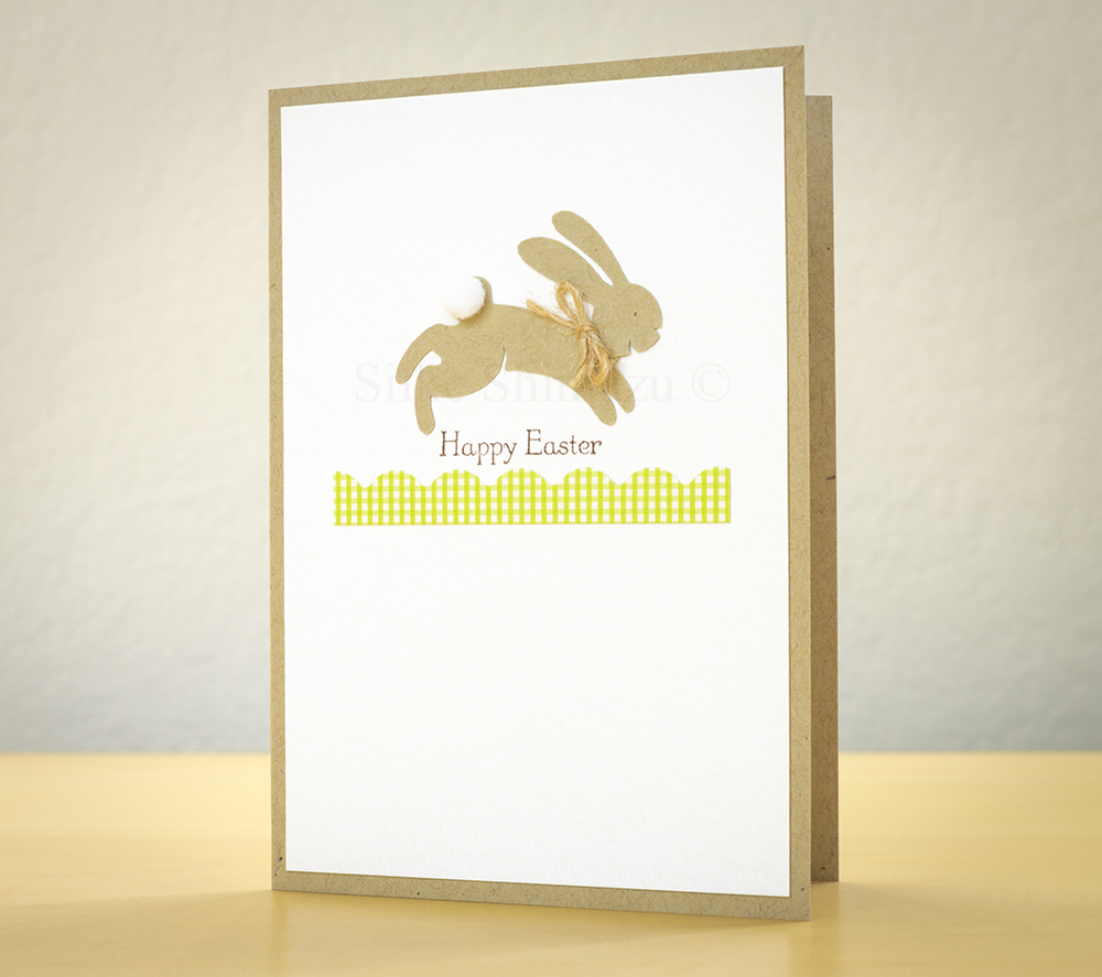 Easter Card 2014 featuring Zooballoo jackrabbit and sentiment from Teeny Tiny Wishes